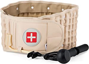 Decompression Back Belt Lumbar Support for Lower Back Pain Relief - One Size for 29-49 Waist