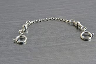 Safety Chain Guard, Rolo Chain, Sterling Silver, 14K Rose Gold Filled, or 14K Gold Filled