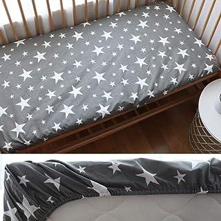 PENVEAT Drap Housse pour bébé pour Les Nouveau-nés Coton Drap de lit de bébé Doux pour Protecteur de Couverture de Matelas...