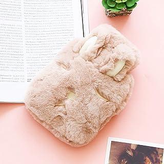 SLDHFE Bouillotte avec housse souple, mignonne, bouillotte d'eau chaude transparente, portable en caoutchouc réutilisable ...