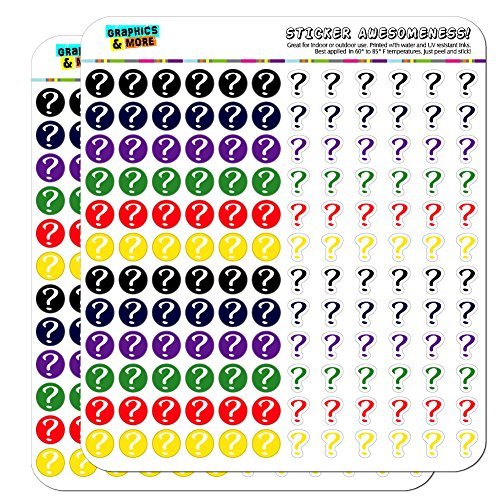 Question Mark Dots Planner Calendar Scrapbooking Crafting Stickers - Multi Color - Clear