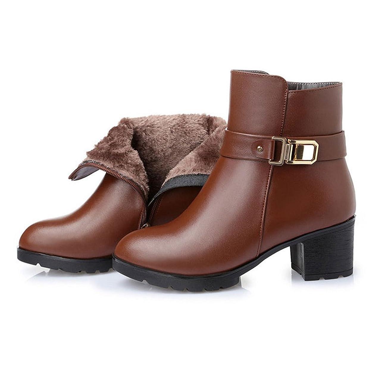 品種喜んでコンデンサー[サニーサニー] ブーツ レディース ショート レインブーツ 婦人靴 冬靴 防寒ブーツ 通勤 裏ボア 大きいサイズ 滑り止め ふわふわ フォーマル もこもこ ミドルヒール セクシー バックル スクエアヒール