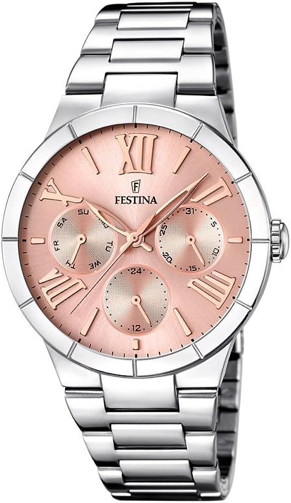 Festina orologio analogico da donna in acciaio inossidabile F16716/3