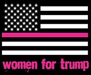ION Graphics Trump Support Sticker Women For Trump American Flag Square Decal Window Bumper
