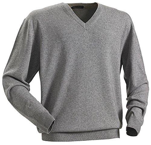 Royal Spencer Herren-Pullover mit V-Ausschnitt aus Kaschmir-Seide, Kaschmirpullover Grau, toller Winterpullover, angenehm zu tragen, Menge(Gr: M - XXL)