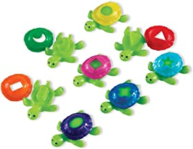 Learning Resources Smart Splash Shape Shell Turtles (8 Piece),5 Inch,Multi-color