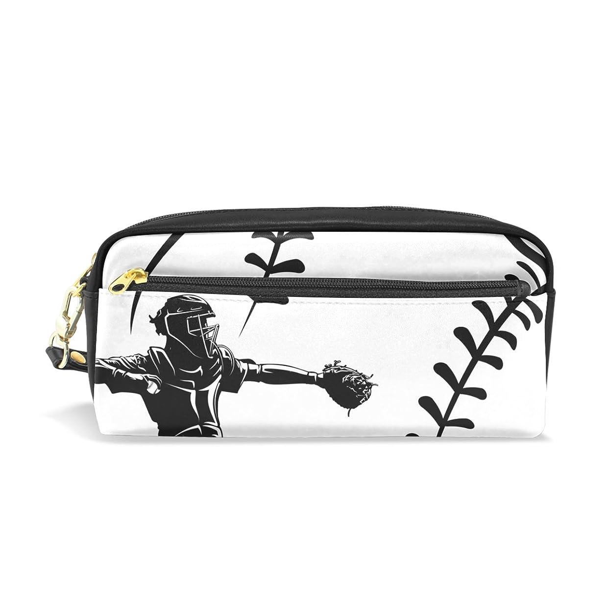 ゴール禁止するAOMOKI ペンケース 化粧ポーチ 小物入り 多機能 レディース 野球
