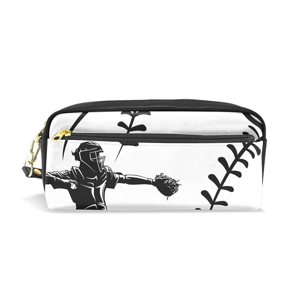 航空襲撃有用AOMOKI ペンケース 化粧ポーチ 小物入り 多機能 レディース 野球