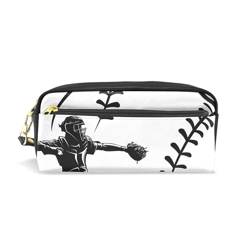 摩擦クレア挑発するAOMOKI ペンケース 化粧ポーチ 小物入り 多機能 レディース 野球