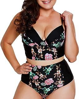 New Women's Plus Size Strappy High Waist Bikini Swimsuit XL-5XL