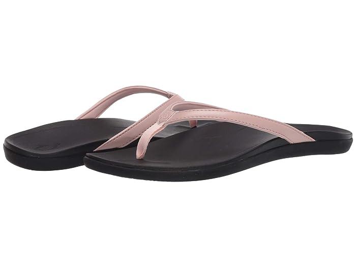 Ho'opio  Shoes (Petal Pink Metallic/Black) Women's Sandals