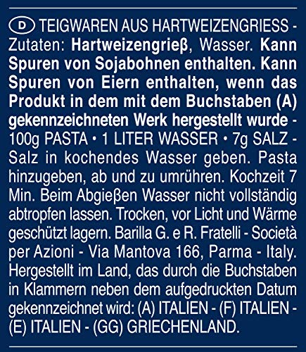 Barilla Hartweizen Pasta Maccheroni n. 44 – 8er Pack (8x500g) - 8