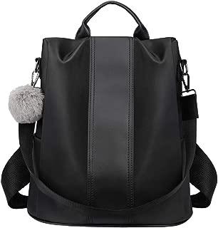 Lightweight Women PU Leather Backpack Shoulder Bag Casual Purse