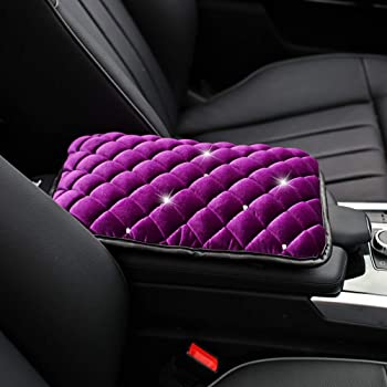 Weryffe Modern Minimalist Car Seat Armrest Cover Car Seat Protector Console Arm Rest Covers Soft Leather Protective Pad Mats,Style 1