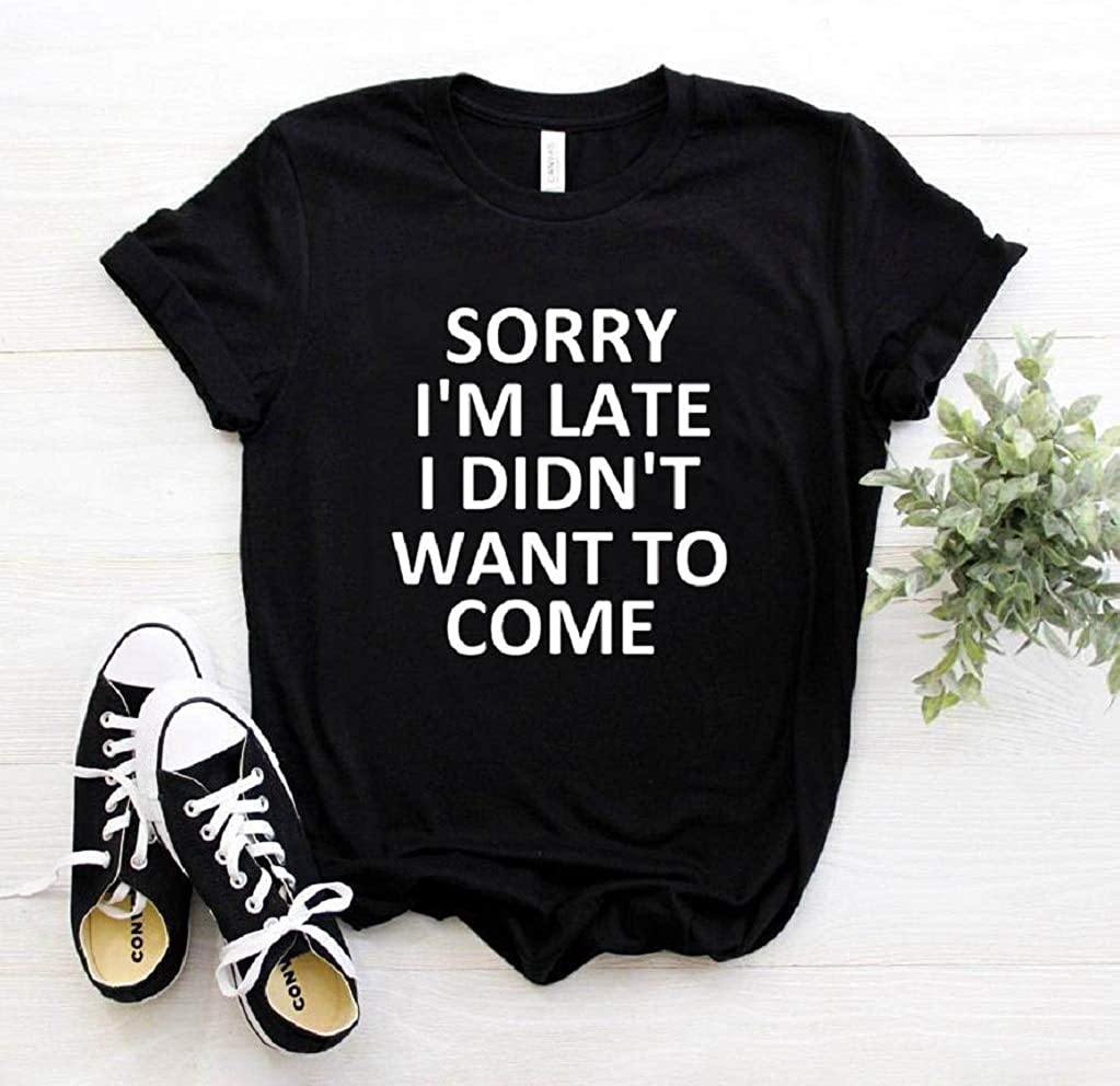 Vanbuy Womens Short Sleeve Graphic Tee Novelty Letter Print T Shirt Summer Tops