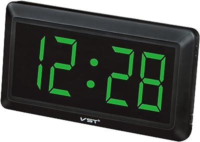 MagiDeal LED Reloj Digital con 4 Pulgadas Pantalla Grande Visualización de 24 Horas - UE -