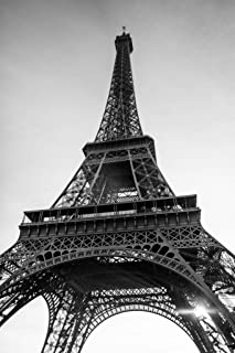 Eiffel Tower Paris France in Black and White Photo Photograph Cool Wall Decor Art Print Poster 24x36