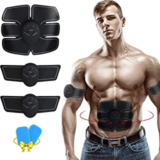 EGEYI Abdominal Muscle Toner,Rechargeable Wireless EMS Massager for Weight Loss, The Ultimate Electronic