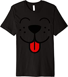 Funny Kids Gift Puppy Dog Emoji Halloween Emoticon Face Premium T-Shirt