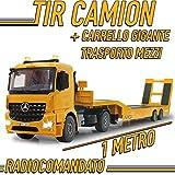 MGidea Camion TIR Mercedes Trattore AROCS Stradale Mercedes RADIOCOMANDATO SPONDA Ribaltabile Scala 1:20
