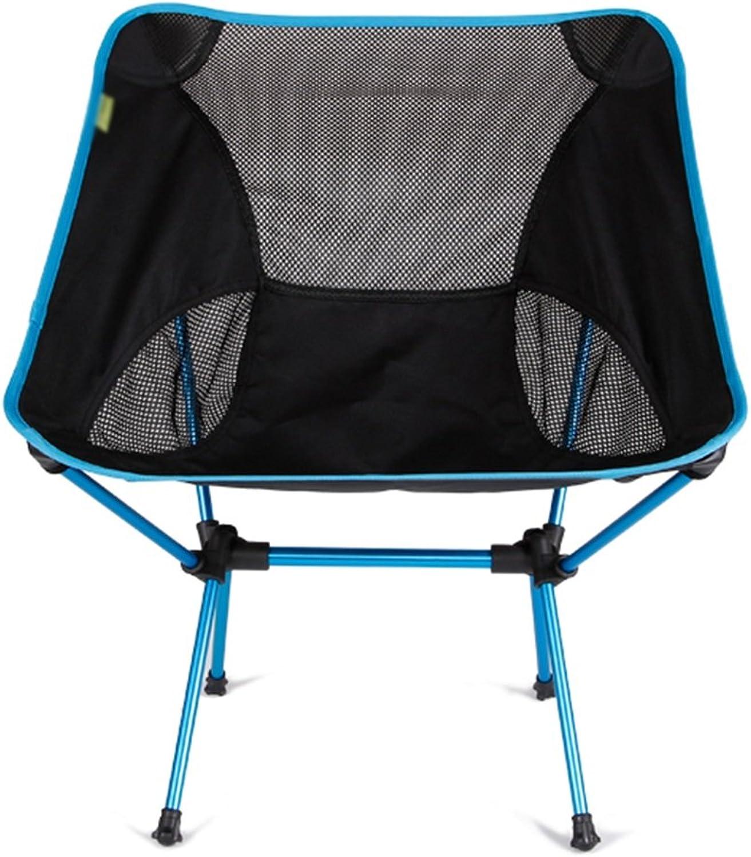 Anna Kletterstuhl Outdoor Backlit Ultra-Light Fischen Stuhl Lazy Folding Stuhl Portable Stuhl Casual Esszimmer Stuhl Lunch Lounge Lichter Farbe Optional (Farbe   Blau)