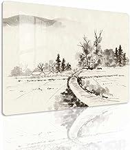 Ecowelle Calentador de imágenes de cristal con imagen | 500 W | 88 x 68 x 5 cm | calefacción por infrarrojos de cristal | fabricado en Alemania | f 159 pintura de tinta