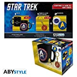 ABYstyle - STAR TREK - confezione - taza + llavero + Starfleet pins