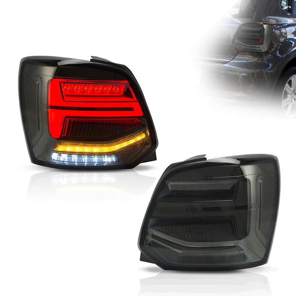 KAIRAY 1 Paar LED R/ückleuchten R/ücklicht R/ücklichter Set f/ür 2011-2017 Polo MK5 6R 6C TDI braun
