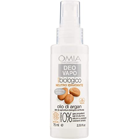 Omia, Deo Vapo Eco Biologico Idratante Con Olio Di Argan, Deodorante Antiodore, 75 ml