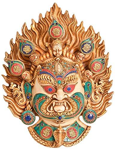 Exotic India - Máscara para colgar en la pared, diseño de la Deidad Budista...