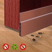 Burlete puerta, SXYHKJ 100 x 5cm burlete bajo puerta burlete autoadhesivo de goma de Silicona, Anti-polvo/anti-ruido/anti-bug de sellado a prueba (marrón)
