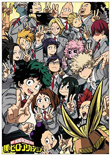 liuguangyicai Wall Painting Poster and Print My Hero Academia Classic Poster Canvas Picture Wall Stickers Art Oil Painting 50X70Cm B1720