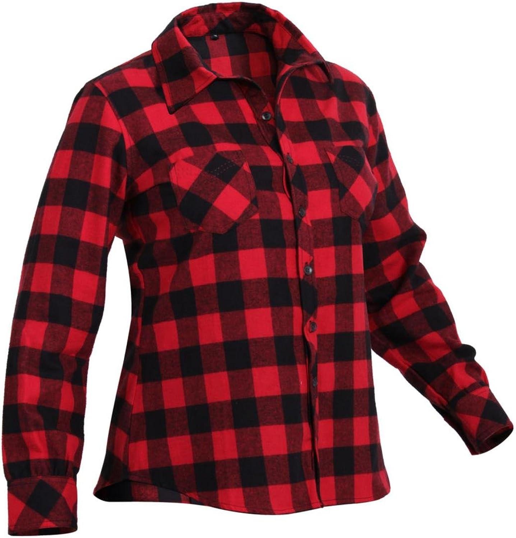 redhco Womens Red Plaid Flannel Shirt