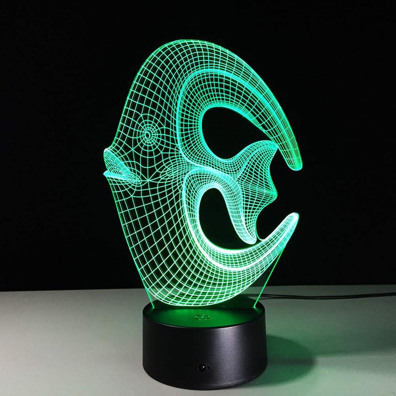 Laofan Fisch 3D Led Nachtlicht 3D Led Bunte Acryl Tischlampe Home Dekorationen Lichter,Fernbedienung