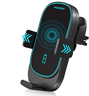 MANKIW Car Wireless Charger Mount,15W Qi Car Charger Auto-Clamping Air Vent Phone Holder Compatible with iPhone 11/11Pro/1...