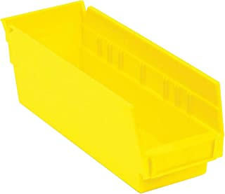 """$64 » One Stop Shop Stacking Storage Drawer Organizer Rack - Plastic Stacking, Nestable, Hanging Parts Bin, 4-1/8""""W x 11-5/8""""D x 4"""" H, Yellow, 24 Pack"""