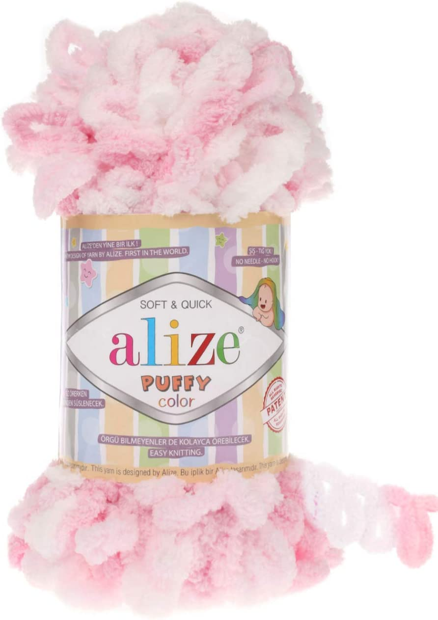 Alize Puffy Color Baby Blanket Yarn Lot yds Credence 39.3 Seattle Mall of 4skn 1 400gr