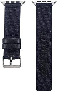 Canvas Band for Watch Series 4 3 2 1 Wrist Jean Strap for iwatch Houndstooth Pattern Classic Design Leather Back,Style 12,for 42mm Watch
