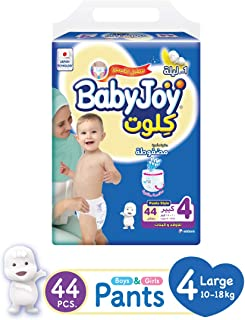 Babyjoy Culotte Jumbo Pack Large,Size 4, 44 Count, 10-18 Kg, 46431