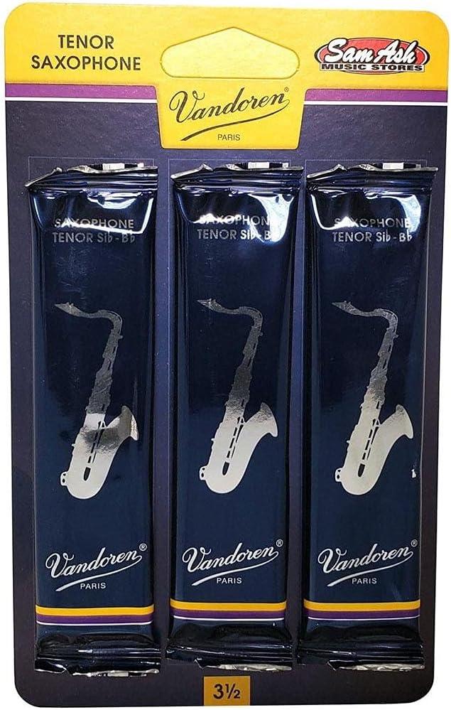 Vandoren Traditional Tenor Saxophone 3.5 Reeds 3-Pack Fashionable Las Vegas Mall