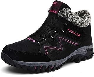 Alebaba Botas de invierno para mujer, botas de nieve, cálidas de felpa, botas de trabajo de goma, para mujer