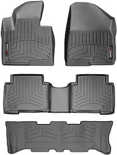 WeatherTech Custom Fit FloorLiner for Santa Fe/Santa Fe XL - 1st, 2nd, 3rd Row (Black)