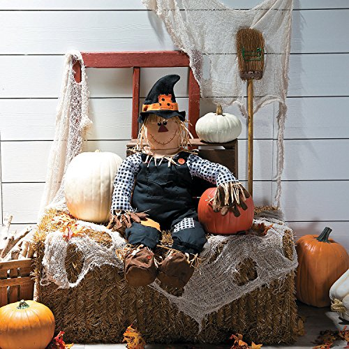 Stuff a Scarecrow for Halloween - Fall Decorations