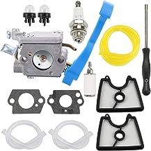 Hayskill C1Q-W37 545081811 Carburetor w 545112101 Air Filter Adjustment Tool Tune Up Kit for Husqvarna 125B 125BX 125BVX Handheld Leaf Blower Replace 590460102