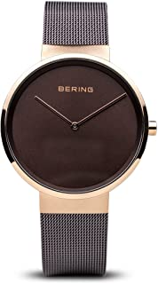 BERING Time 14539-262 Classic Collection Watch with Mesh Band and Scratch Resistant Sapphire Crystal. Designed in Denmark.