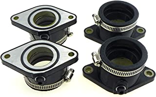 Intake Manifold, Carburator Intake Manifold Boot Joint Gasket Kit for 1981-1982 Suzuki GS650E, for 1981-1983 Suzuki GS650G, Right and Left 4 Pcs
