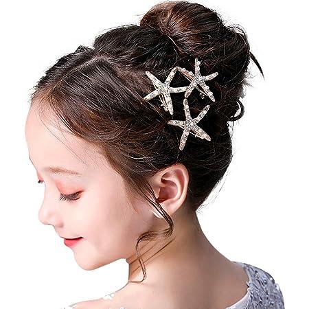 Flower Clips Coral Hair Clip Girl/'s Barrette Girl/'s Hair Clips Coral Peach Hair Clip Coral and Purple Hair Clip Starfish Hair Clip