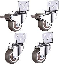 Zwenkwielen, Caster Wheels Set van 4 Casters 4 stks Meubilair Casters Wielen Zachte Rubber Swivel Caster Dely Roller Wiele...
