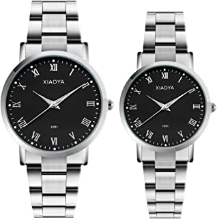 Couple Watches Anniversary Gifts Set of 2 Pairs Gifts for Valentines Day Men Women Analog Wrist Watch