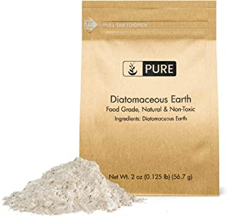 Diatomaceous Earth (2 oz.) by Pure Organic Ingredients, Food Grade, Hundreds of Uses for Health and Cleaning for You, Your Pets, and Your Home